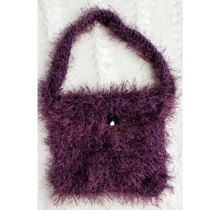 Handbags - Plush Plum Unique Handbag